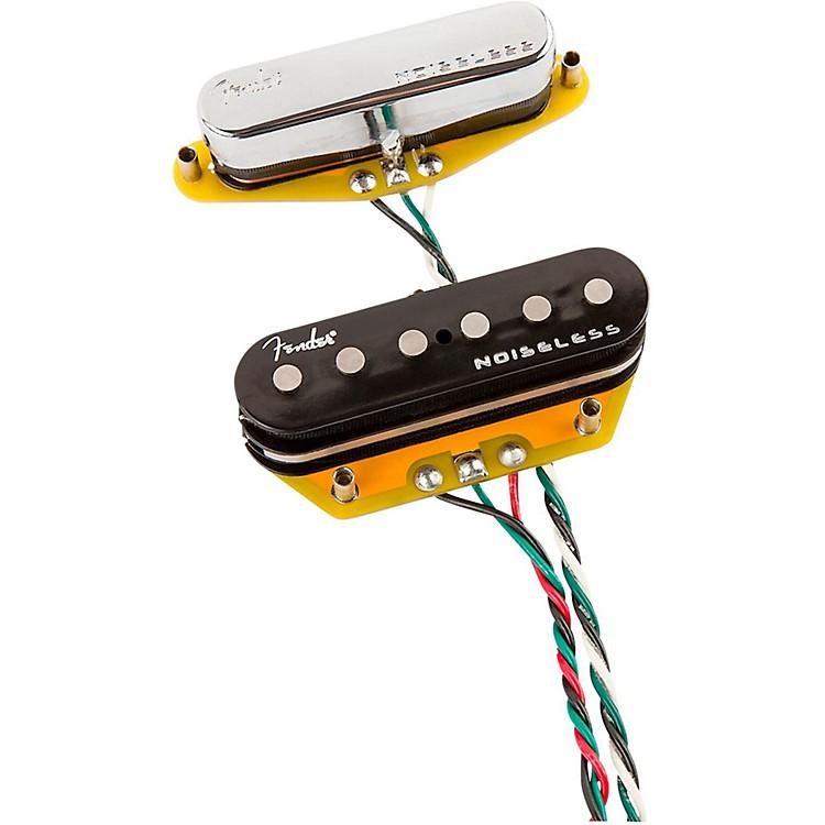 FenderGen 4 Noiseless Telecaster Pickups Set of 2Black and Chrome