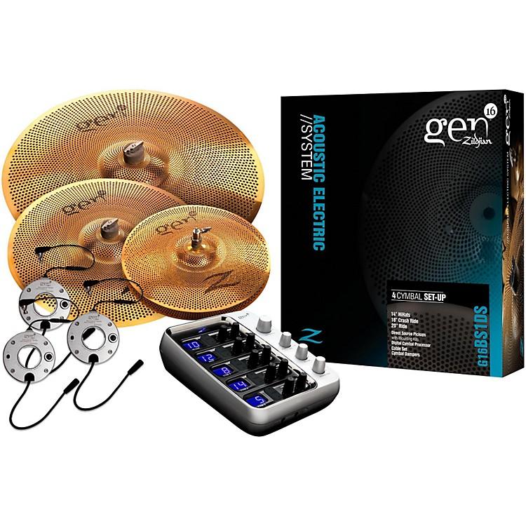 ZildjianGen16 Buffed Bronze 14/18/20 Acoustic-Electric Cymbal Pack