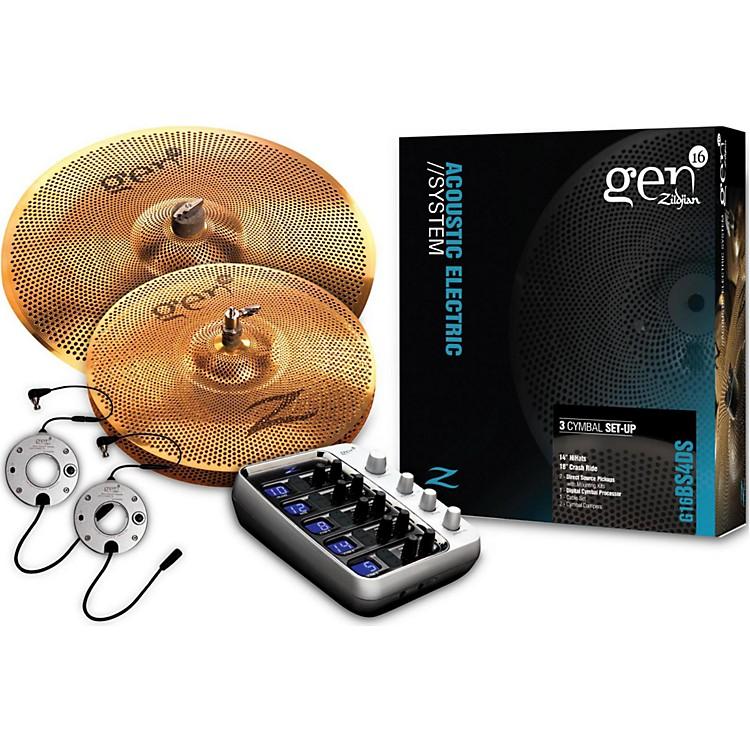 ZildjianGen16 Buffed Bronze 14/18 Acoustic-Electric Cymbal Pack