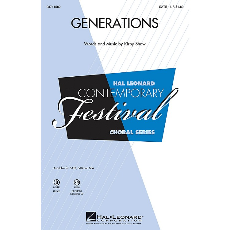 Hal Leonard Generations ShowTrax CD Composed by Kirby Shaw