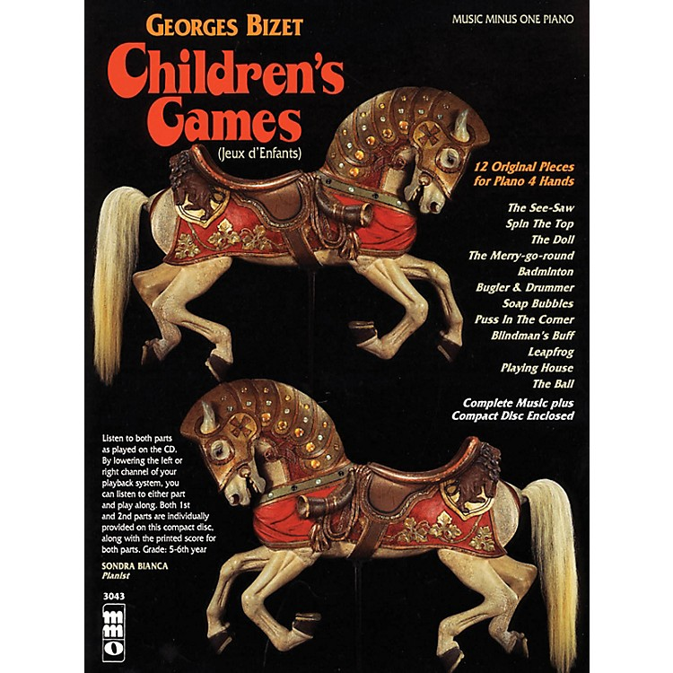 Music Minus OneGeorges Bizet - Children's Games (Jeux d'Enfants) Music Minus One Softcover with CD by Georges Bizet