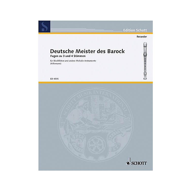SchottGerman Baroque Masters (Performance Score) Composed by Various