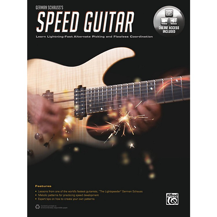 Alfred German Schauss's Speed Guitar Book & Online Audio & Video