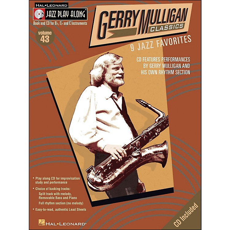 Hal Leonard Gerry Mulligan Classics Jazz Play-Along Volume 43 Book/CD
