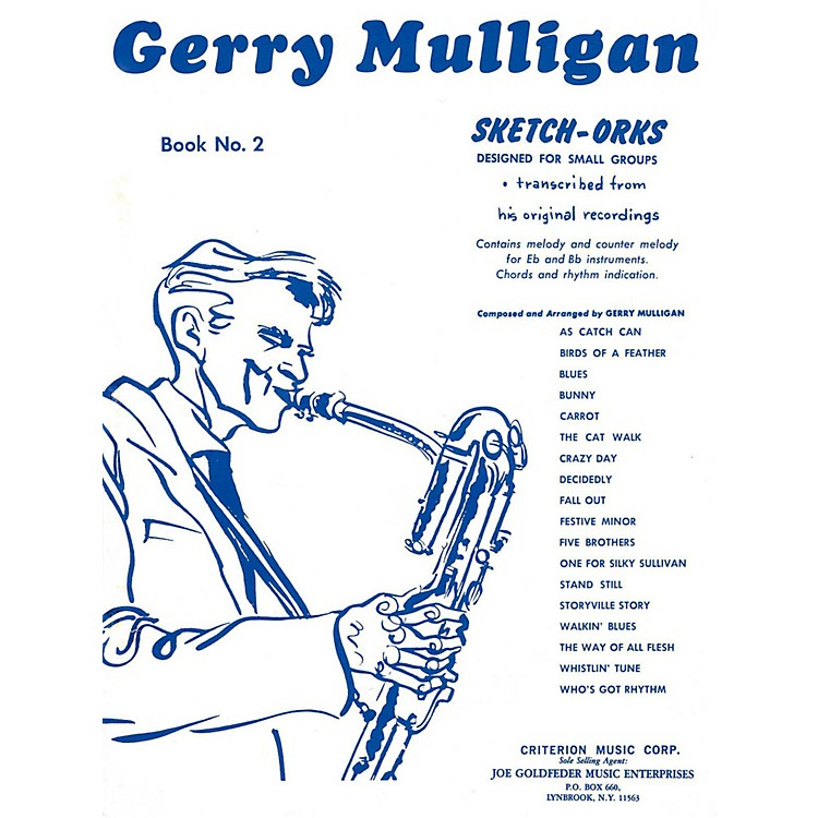 Hal Leonard Gerry Mulligan Sketch-Orks Book 2 For E Flat And B Flat Instruments