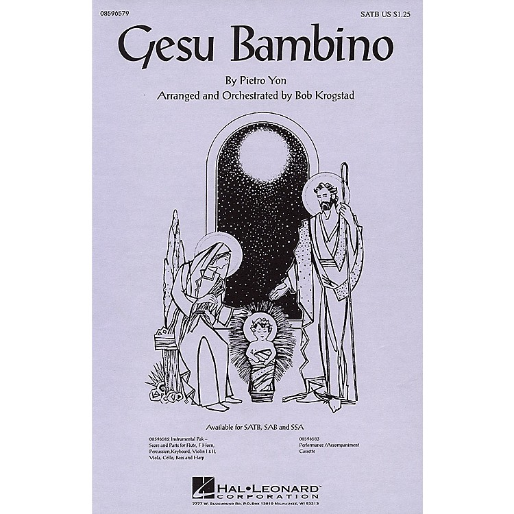 Hal Leonard Gesu Bambino SSA Arranged by Bob Krogstad