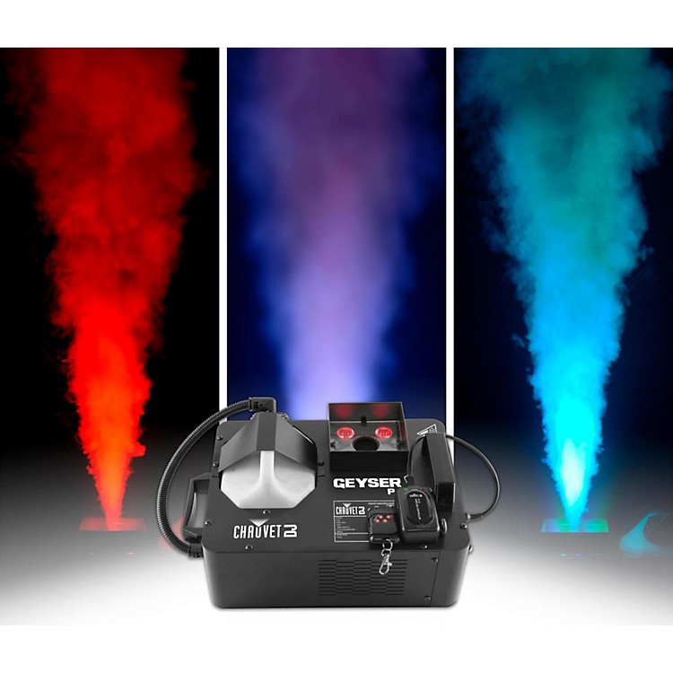 CHAUVET DJ Geyser P4 Vertical Fog Machine with LED Light Effects and Remote Control