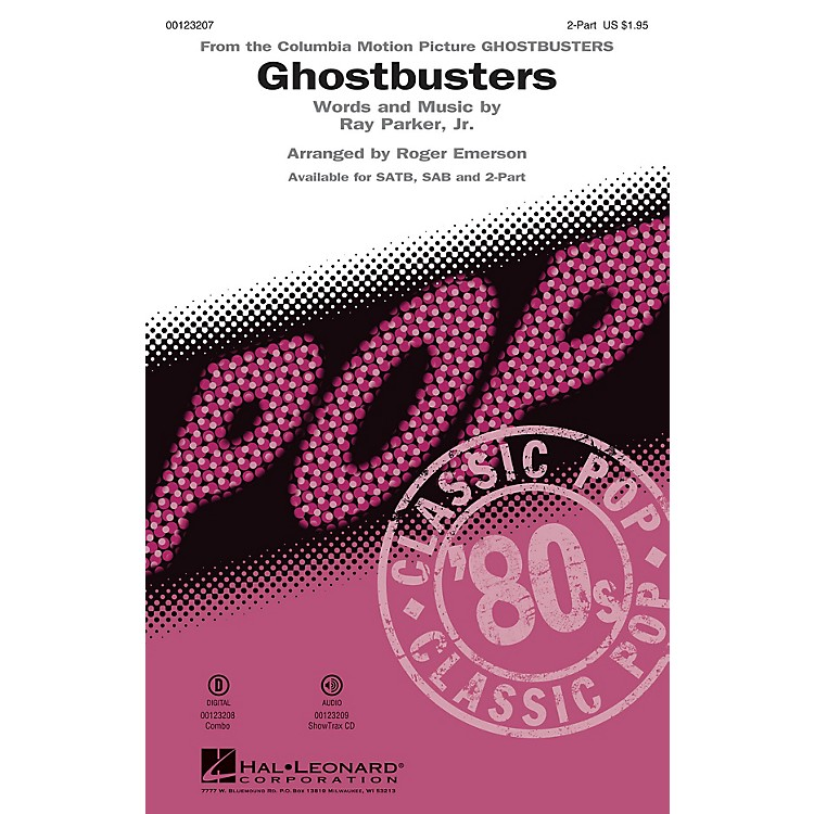 Hal Leonard Ghostbusters 2-Part arranged by Roger Emerson