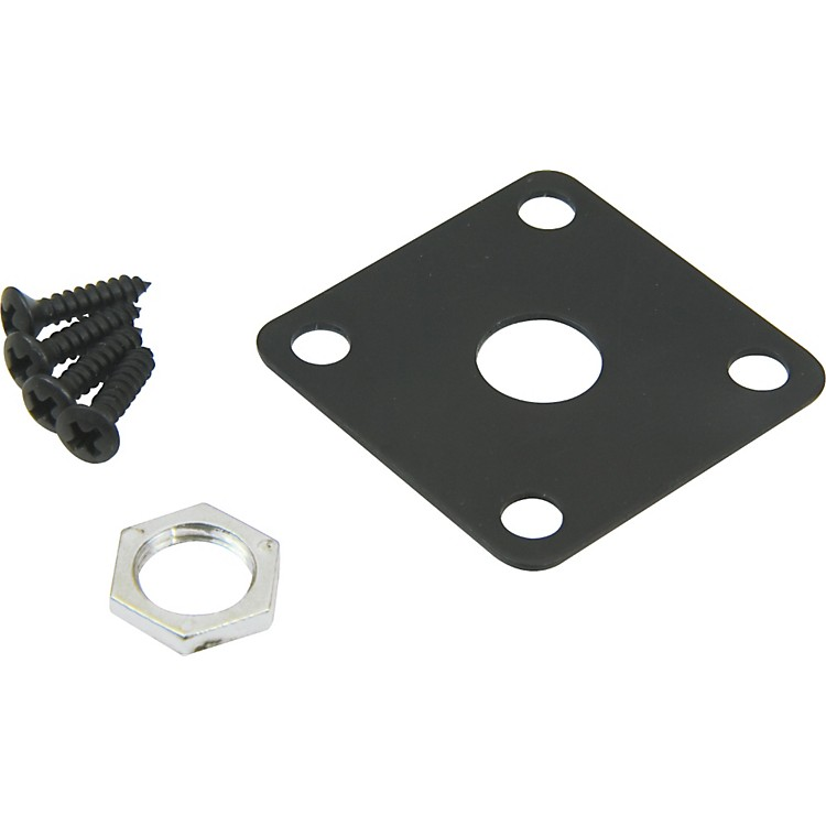 DiMarzio Gibson Style Metal Jack Plate Black