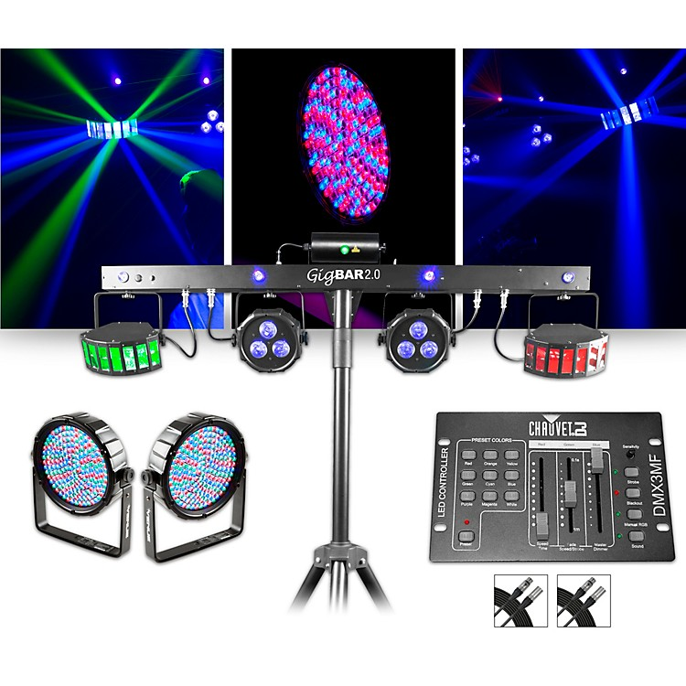 chauvet dj gigbar 2 w thinpar64 10mm pair and dmx3mf controller lighting package music123. Black Bedroom Furniture Sets. Home Design Ideas