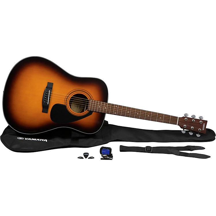 YamahaGigMaker Acoustic Guitar PackTobacco Brown Sunburst