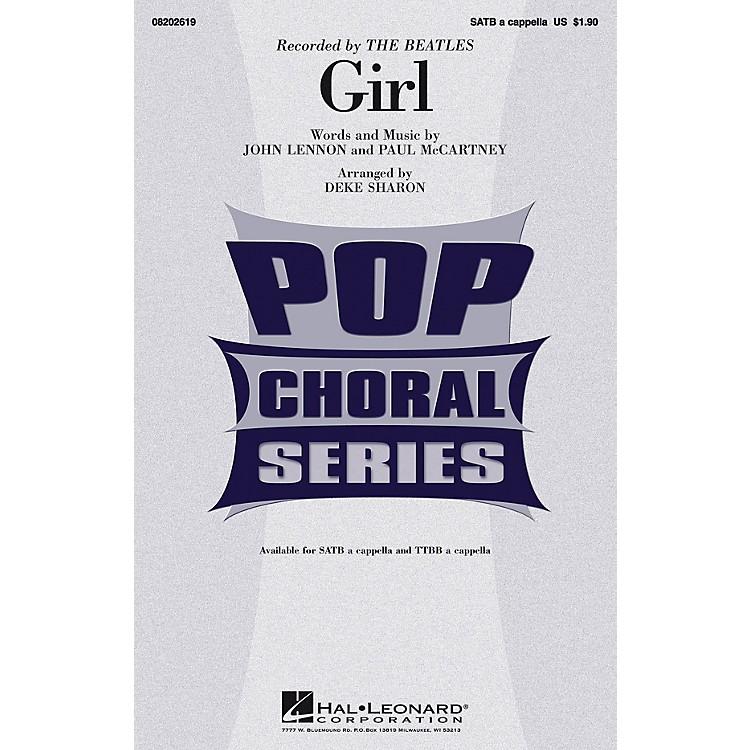 Hal LeonardGirl TTBB A Cappella by The Beatles Arranged by Deke Sharon