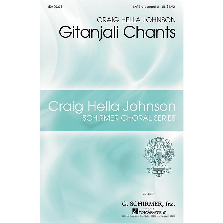 G. SchirmerGitanjali Chants (Craig Hella Johnson Choral Series) SATB a cappella composed by Craig Hella Johnson