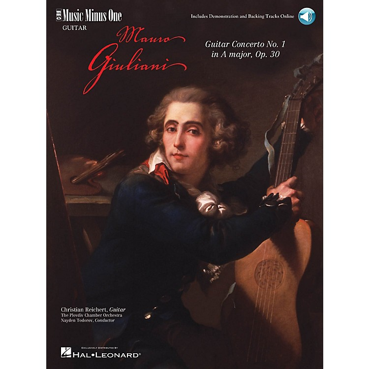 Music Minus OneGiuliani - Guitar Concerto No. 1 in A Major, Op. 30 (2-CD Set) Music Minus One Series Softcover with CD