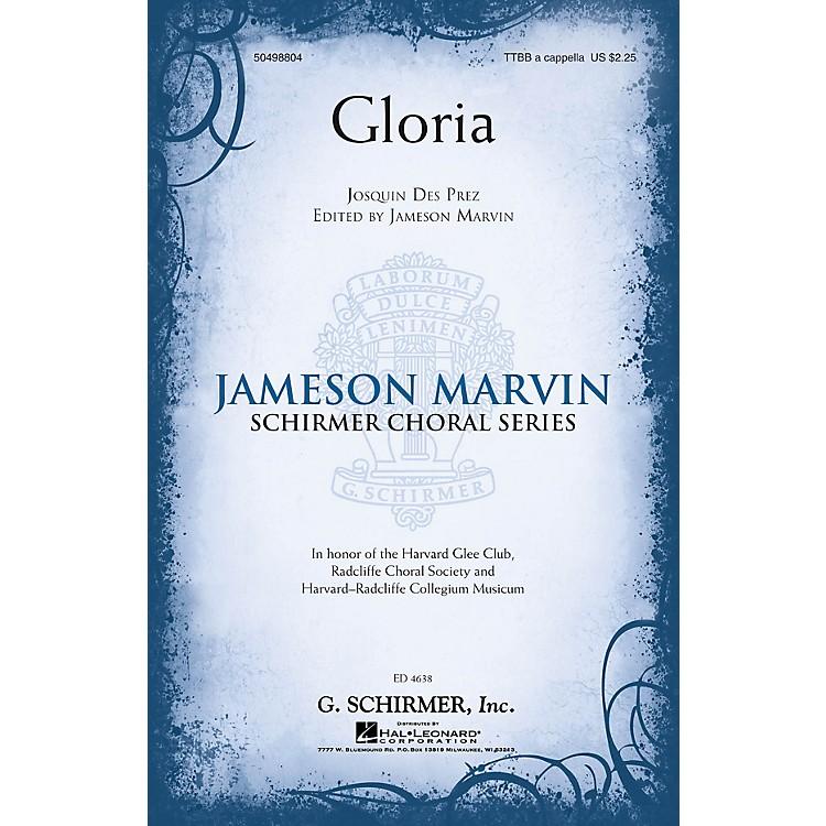 G. SchirmerGloria (Jameson Marvin Choral Series) TTBB A Cappella composed by Josquin des Prez