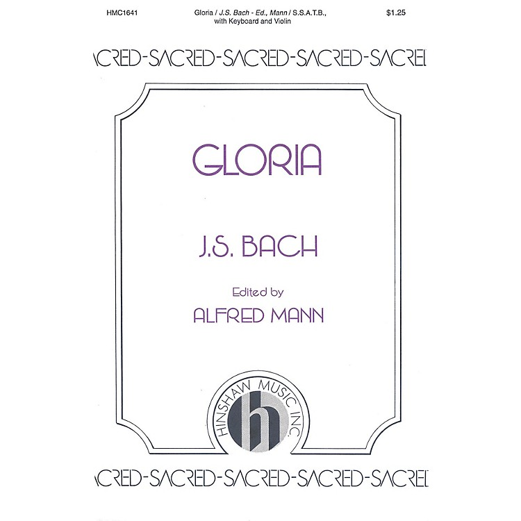 Hinshaw MusicGloria SSATB composed by Johann Sebastian Bach
