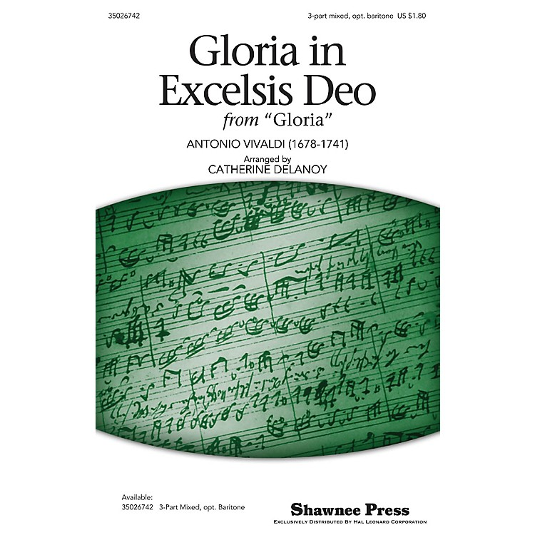 Shawnee PressGloria in Excelsis Deo 3-Part Mixed arranged by Catherine DeLanoy