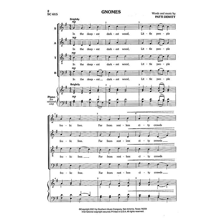 Hal LeonardGnomes (Choral Music/Octavo Secular Satb) SATB Composed by Dewitt, Patti