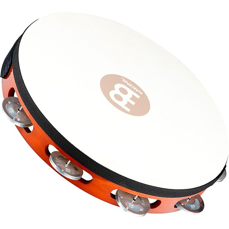 MeinlGoat-Skin Wood Tambourine One Row Aluminum JinglesAfrican Brown