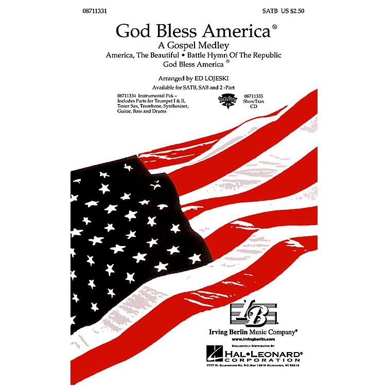 Hal LeonardGod Bless America® - A Gospel Medley (SATB) SATB arranged by Ed Lojeski