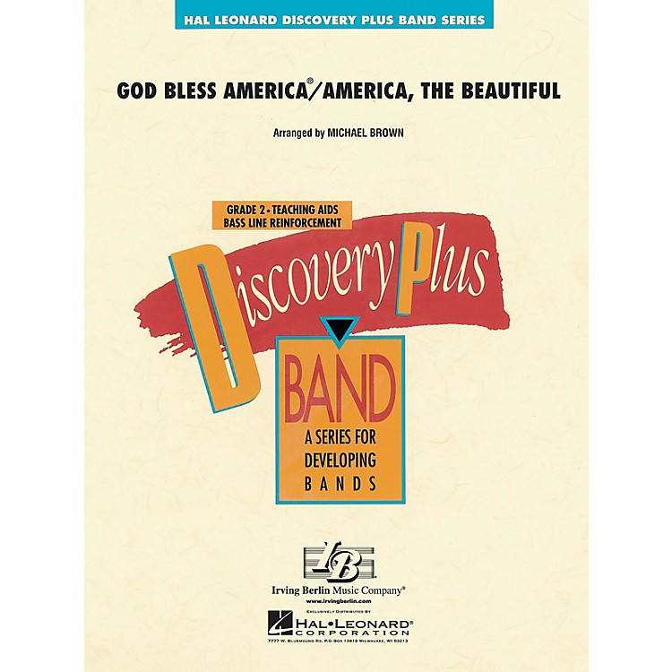 Hal LeonardGod Bless America/America, The Beautiful - Discovery Plus Band Level 2 arranged by Michael Brown