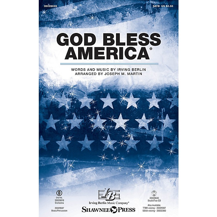 Shawnee PressGod Bless America (Brass and Percussion) BRASS/PERCUSSION PARTS Arranged by Joseph M. Martin