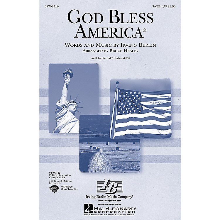 Hal LeonardGod Bless America (Festival Edition w/Vocal Solo and opt. Narrator) SSA Arranged by Bruce Healey