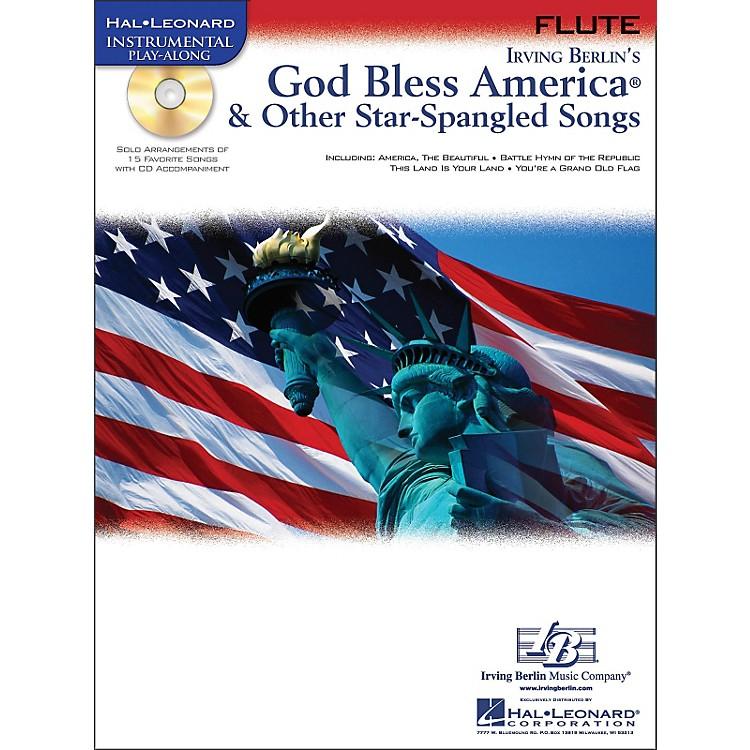 Hal LeonardGod Bless America & Other Star-Spangled Songs for Flute instrumental Play-Along Book/CD