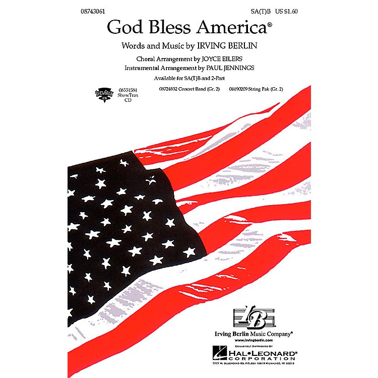 Hal LeonardGod Bless America® ShowTrax CD Arranged by Paul Jennings