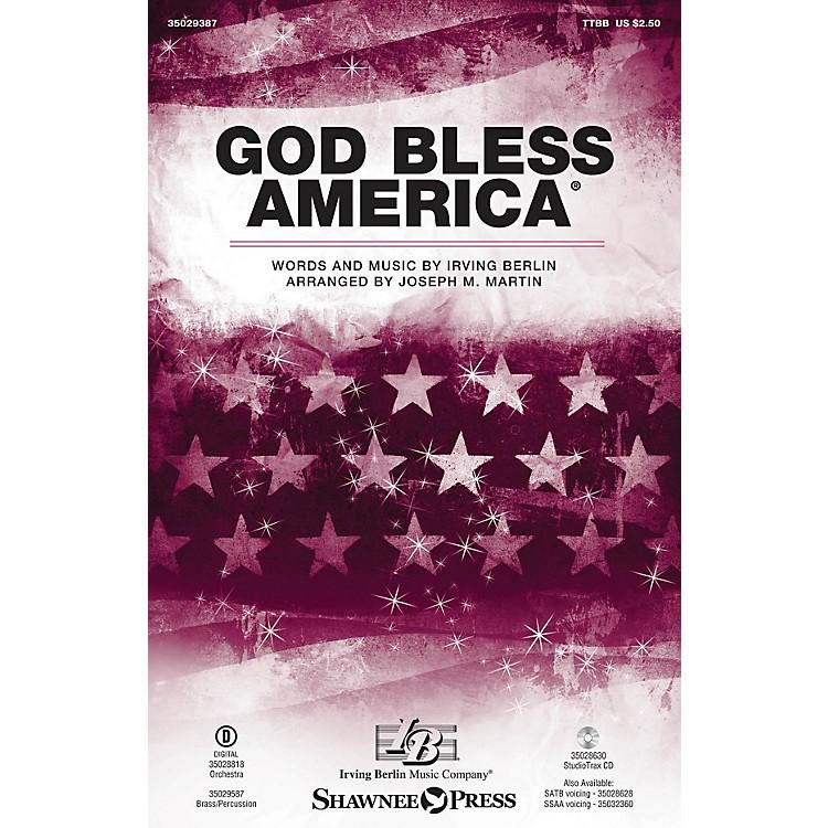 Shawnee PressGod Bless America TTBB arranged by Joseph M. Martin