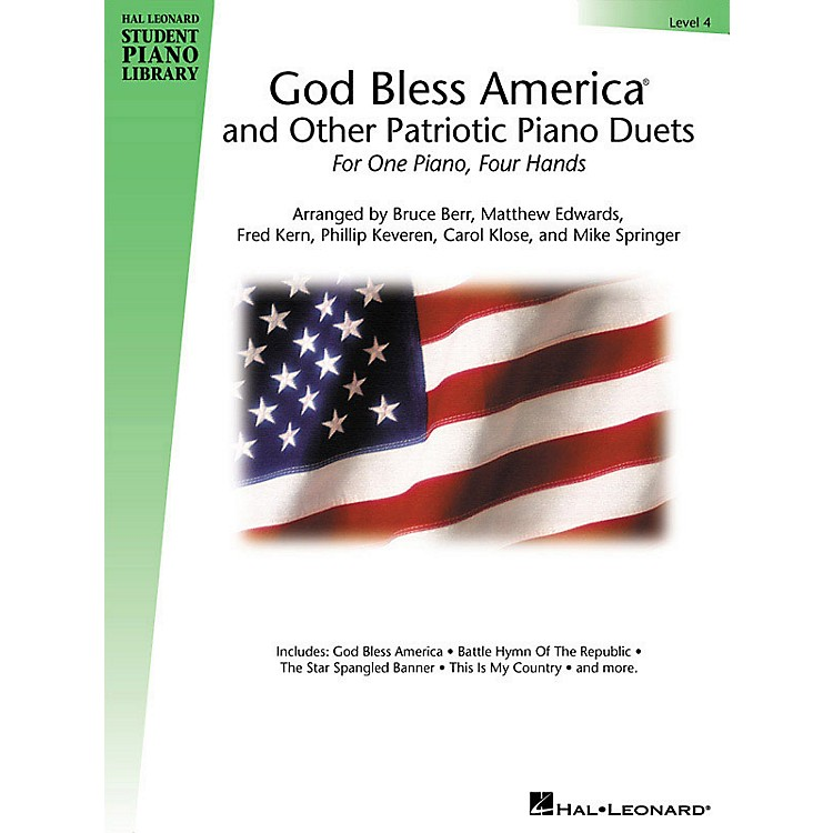 Hal Leonard God Bless America and Other Patriotic Piano Duets - Level 4 Educational Piano Library Series Softcover