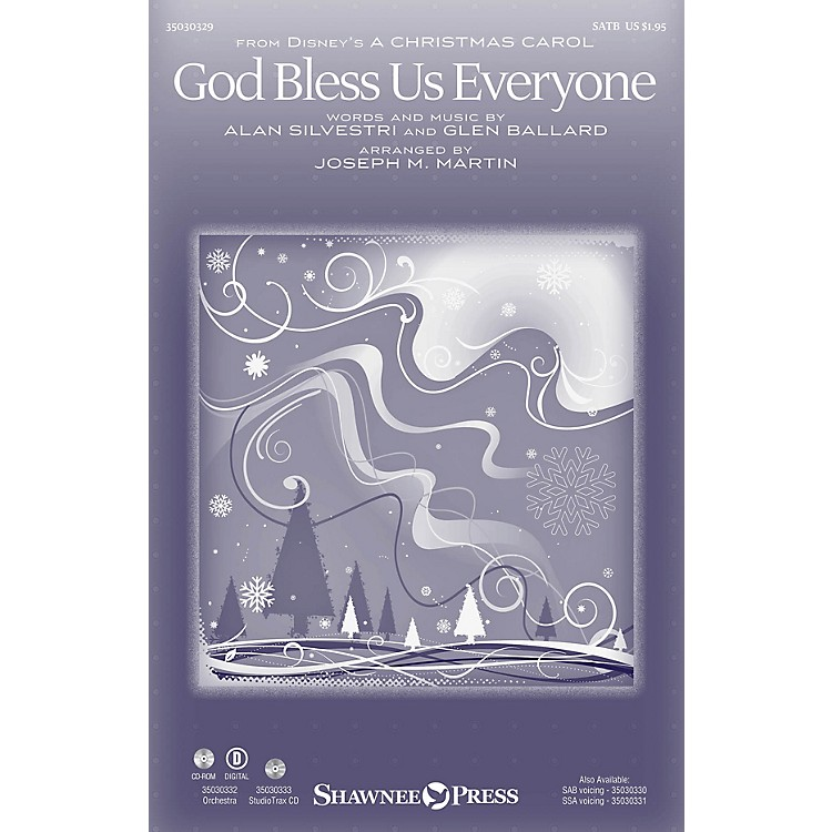 Shawnee PressGod Bless Us Everyone SATB by Andrea Bocelli arranged by Joseph M. Martin