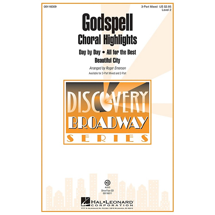 Hal LeonardGodspell (Choral Highlights Discovery Level 2 2-Part) 2-Part Arranged by Roger Emerson
