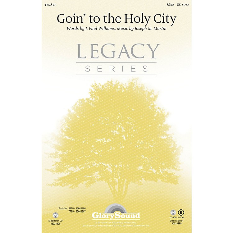 Shawnee PressGoin' to the Holy City SSAA composed by Joseph M. Martin