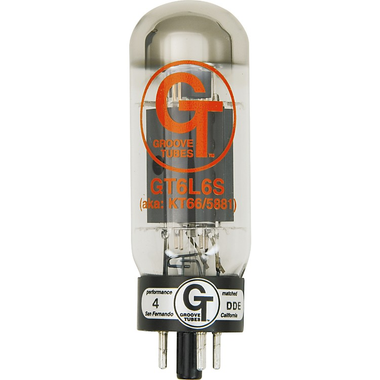 Groove Tubes Gold Series GT-6L6-S Matched Power Tubes Medium (4-7 GT Rating) Quartet