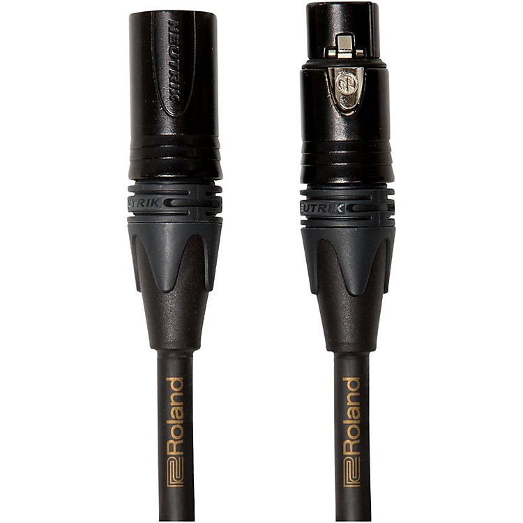 Roland Gold Series XLR Microphone Cable 5 ft. Black