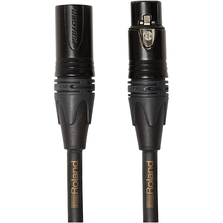 Roland Gold Series XLR Microphone Cable 3 ft. Black
