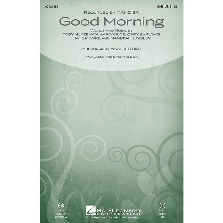Hal LeonardGood Morning CHOIRTRAX CD by Mandisa Arranged by Mark Brymer