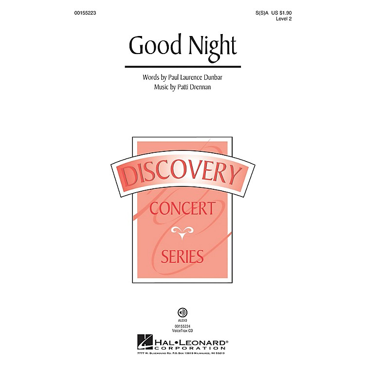 Hal LeonardGood Night (Discovery Level 2) SA with optional 2nd sop composed by Patti Drennan