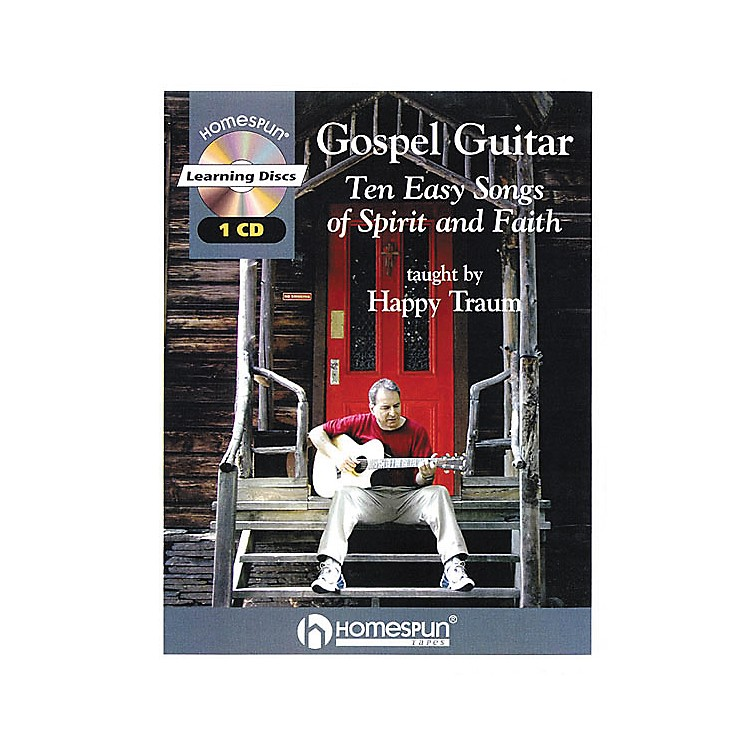 HomespunGospel Guitar Taught by Happy Traum Book with CD