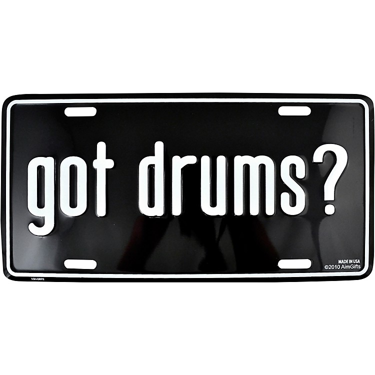 AIMGot Drums License Plate
