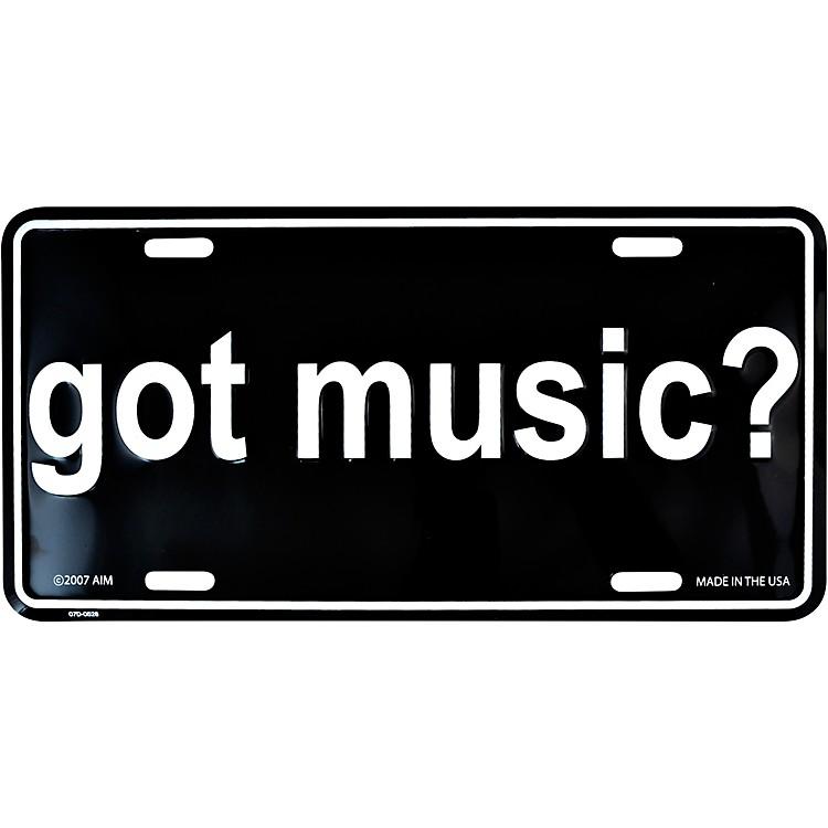 AIMGot Music? License Plate