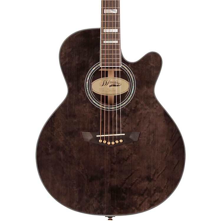 D'AngelicoGramercy Sitka Grand Auditorium Cutaway Acoustic-Electric GuitarGray-Black