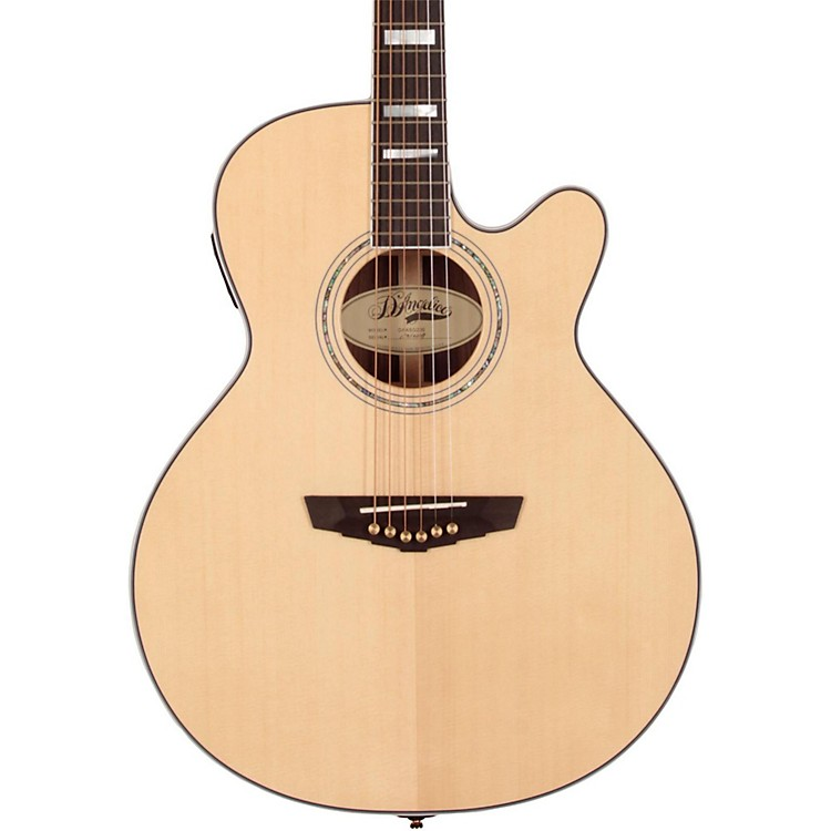 D'Angelico Gramercy Sitka Grand Auditorium Cutaway Acoustic-Electric Guitar Natural 190839045188
