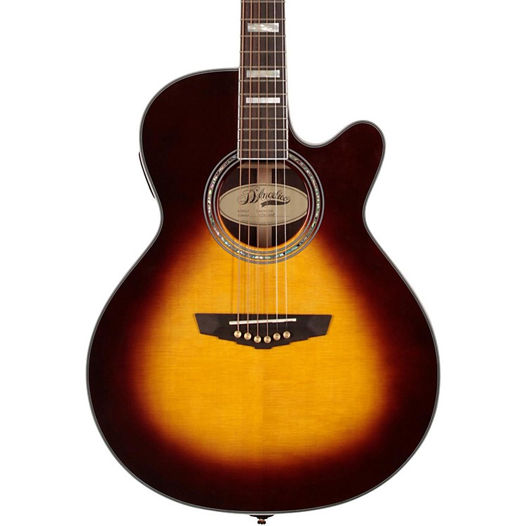 D'AngelicoGramercy Sitka Grand Auditorium Cutaway Acoustic-Electric GuitarVintage Sunburst