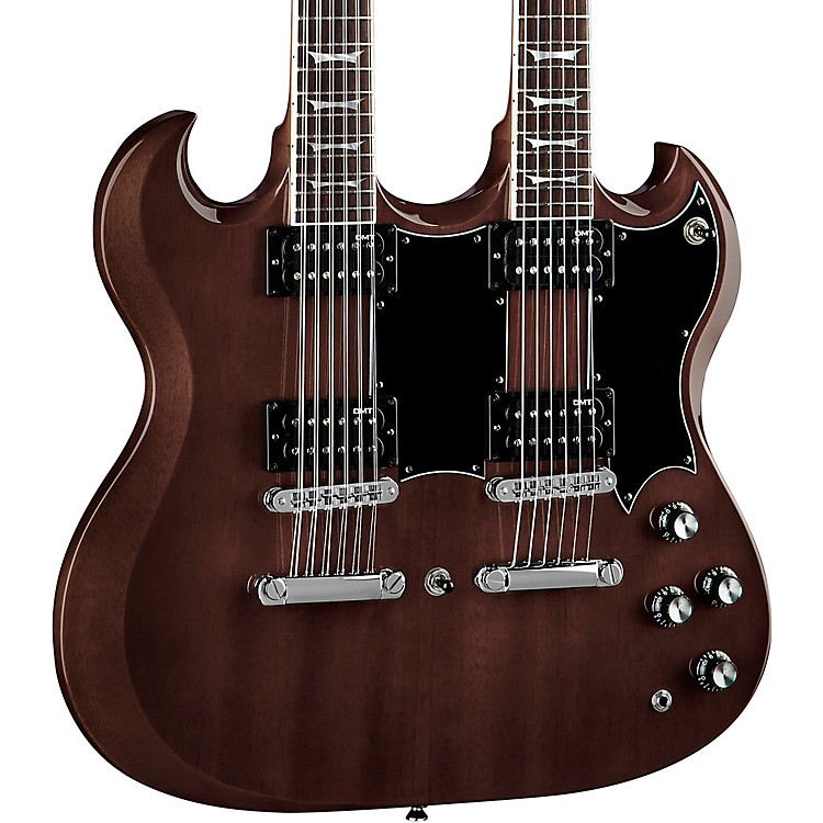DeanGran Sport Double Neck Worn Brown Electric Guitar