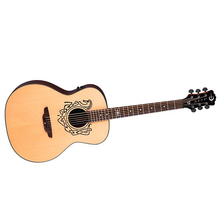 Luna GuitarsGrand Concert Celtic-Themed Acoustic-Electric GuitarNaturalCeltic Horse