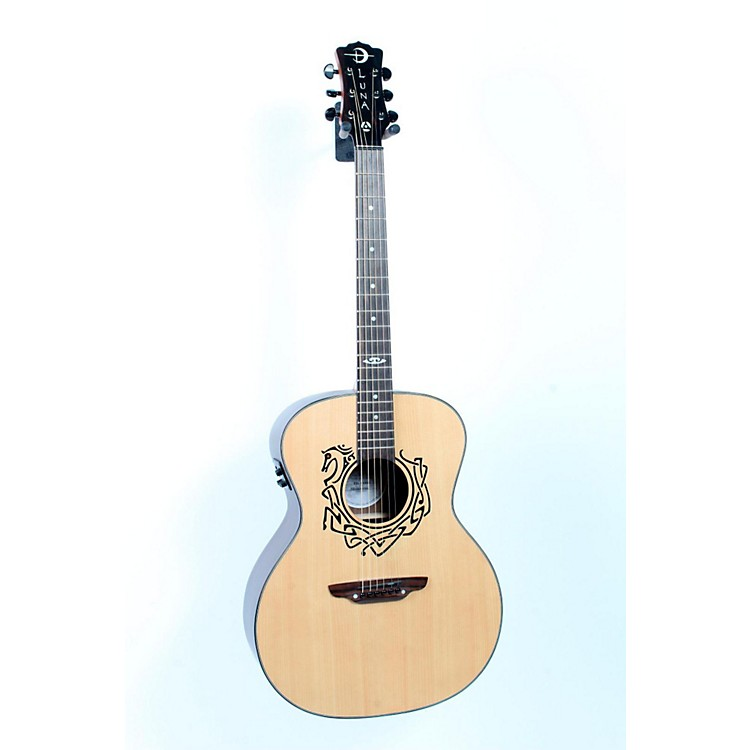 Luna Guitars Grand Concert Celtic-Themed Acoustic-Electric Guitar Natural 888365384139
