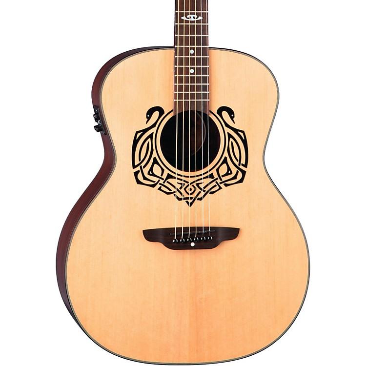 Luna GuitarsGrand Concert Celtic-Themed Acoustic-Electric Guitar