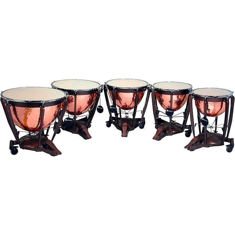 BergeraultGrand Professional Series Timpani Set with Hand Hammered Parabolic Copper Bowls20, 23, 26, 29, 32 in.